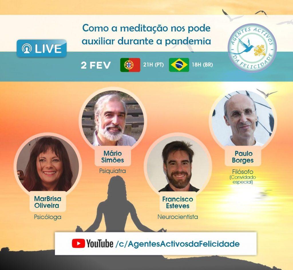 Live Como a meditação nos pode auxiliar durante a pandemia