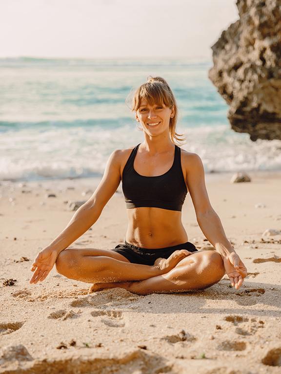 Bem-estar praticar yoga